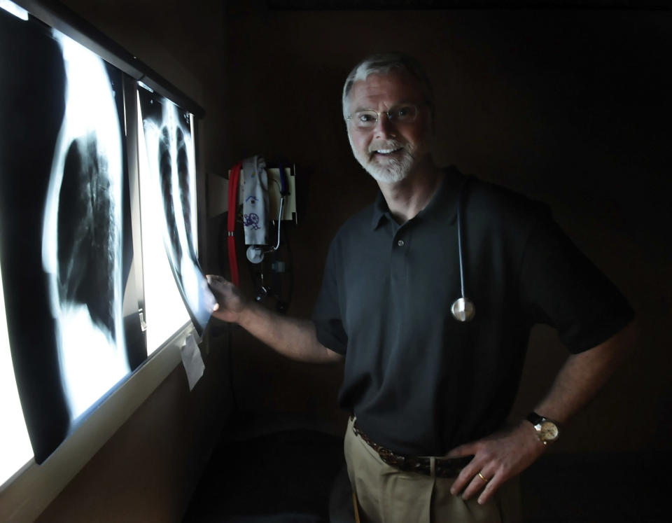 FILE - This March 12, 2009 file photo shows Dr. Robert Lesslie in Rock Hill, S.C. Authorities say a gunman, identified as former NFL player Phillip Adams, killed Lesslie, his wife and grandchildren on Wednesday, April 7, 2021 in Rock Hill. Adams killed himself early Thursday according to a source who was briefed on the investigation. (John D. Simmons/The Charlotte Observer via AP)