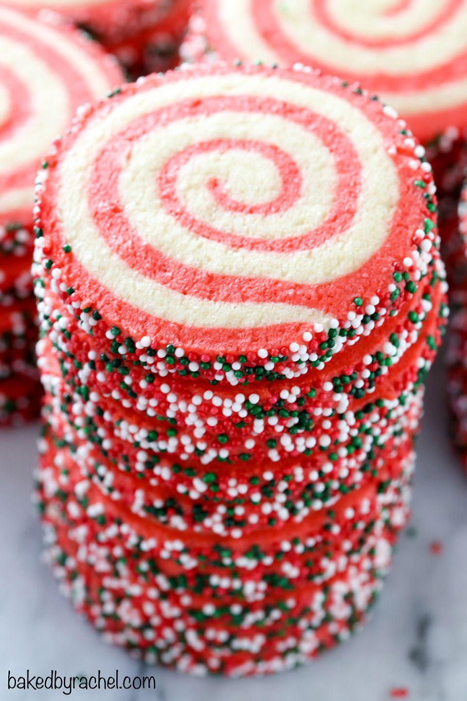 """<p>Have a <a href=""""https://www.countryliving.com/food-drinks/g1059/homemade-food-gifts/"""" rel=""""nofollow noopener"""" target=""""_blank"""" data-ylk=""""slk:holiday cookie exchange"""" class=""""link rapid-noclick-resp"""">holiday cookie exchange</a> coming up? These colorful pinwheels will impress the lucky recipient with both taste and presentation. </p><p><strong>Get the recipe at <a href=""""https://www.bakedbyrachel.com/christmas-pinwheel-sugar-cookies/"""" rel=""""nofollow noopener"""" target=""""_blank"""" data-ylk=""""slk:Baked by Rachel"""" class=""""link rapid-noclick-resp"""">Baked by Rachel</a>.</strong></p><p><strong><a class=""""link rapid-noclick-resp"""" href=""""https://www.amazon.com/dp/B0001ZYYP6/?tag=syn-yahoo-20&ascsubtag=%5Bartid%7C10050.g.647%5Bsrc%7Cyahoo-us"""" rel=""""nofollow noopener"""" target=""""_blank"""" data-ylk=""""slk:SHOP STAND MIXERS"""">SHOP STAND MIXERS</a></strong> </p>"""
