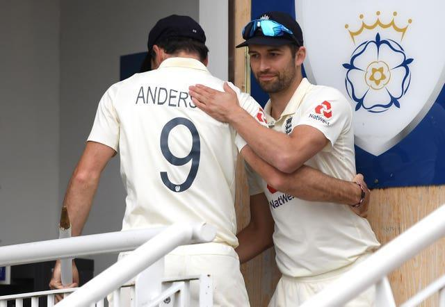 Mark Wood, right, and James Anderson