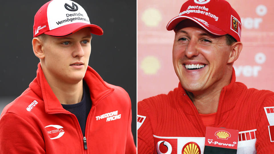 Mick and Michael Schumacher. Image: Getty