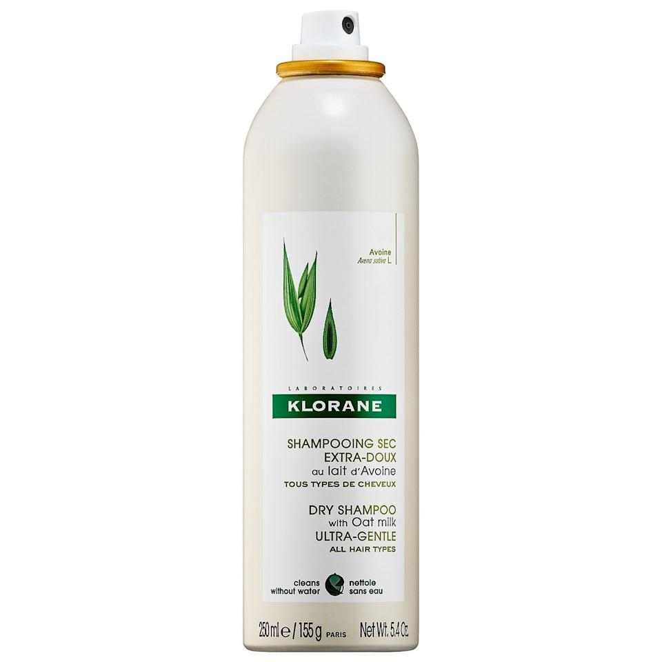 """<h3>Klorane Dry Shampoo with Oat Milk</h3><br>This French <em>pharmacie</em> classic won't leave your roots powdery and cakey, like other dry shampoos. Instead, this gentle formula is perfect for a mild refresh with a touchably soft texture.<br><br><strong>Klorane</strong> Dry Shampoo with Oat Milk, $, available at <a href=""""https://go.skimresources.com/?id=30283X879131&url=https%3A%2F%2Ffave.co%2F3kDxIK7"""" rel=""""nofollow noopener"""" target=""""_blank"""" data-ylk=""""slk:Sephora"""" class=""""link rapid-noclick-resp"""">Sephora</a>"""