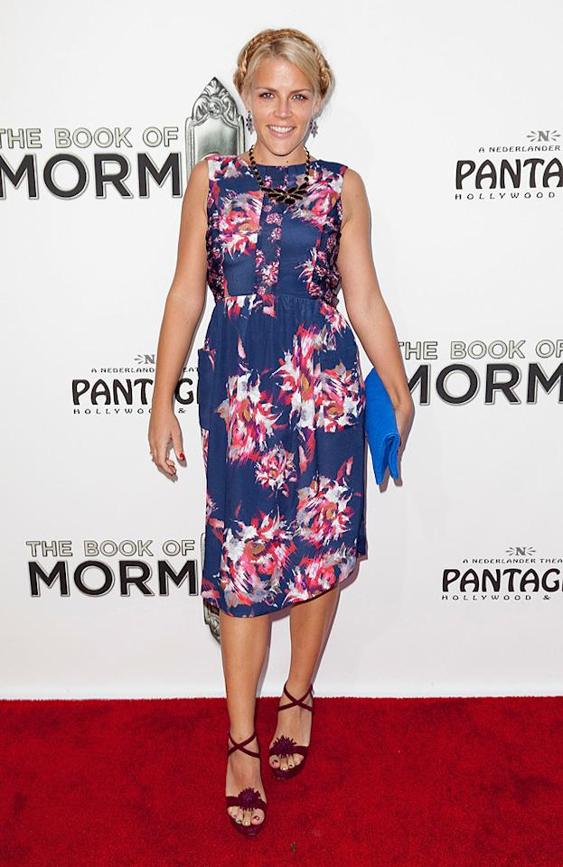 """""""Cougartown"""" actress Busy Phillips looked like she came dressed in her """"Sunday best.""""(9/12/2012)"""