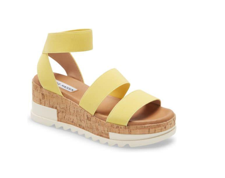 "Normally $80, these <a href=""https://www.nordstrom.com/s/steve-madden-bandi-platform-wedge-sandal-women/4977769?origin=keywordsearch-personalizedsort&amp;breadcrumb=Home%2FAll%20Results&amp;color=dusty%20blue"" rel=""nofollow noopener"" target=""_blank"" data-ylk=""slk:Bandi Platform Wedge Sandals"" class=""link rapid-noclick-resp"">Bandi Platform Wedge Sandals </a> are on sale for $55 at <a href=""https://www.nordstrom.com/s/steve-madden-bandi-platform-wedge-sandal-women/4977769?origin=keywordsearch-personalizedsort&amp;breadcrumb=Home%2FAll%20Results&amp;color=dusty%20blue"" rel=""nofollow noopener"" target=""_blank"" data-ylk=""slk:Nordstrom"" class=""link rapid-noclick-resp"">Nordstrom</a>."