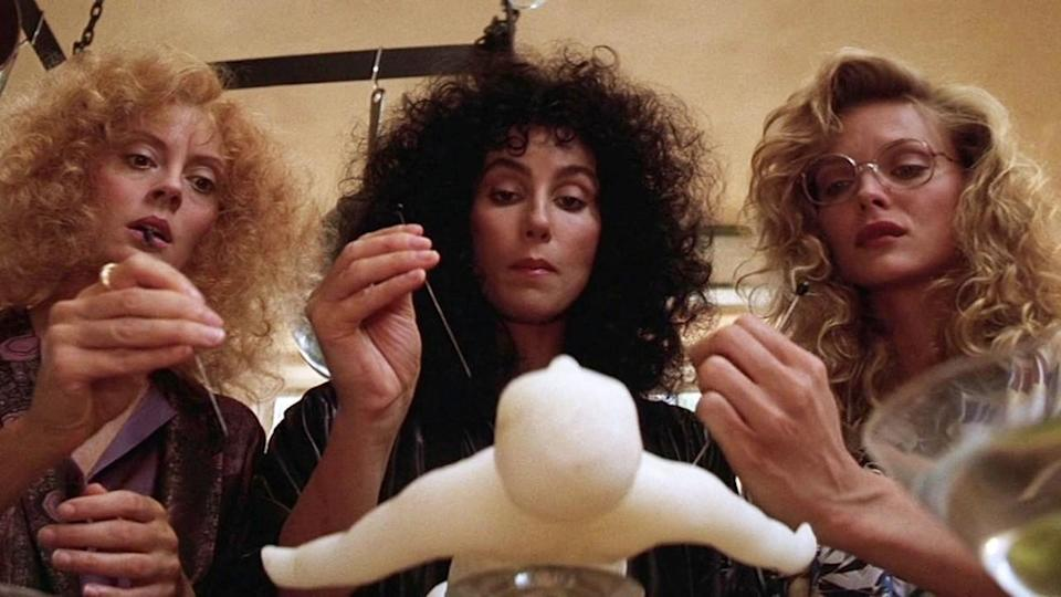 <p> The cast of The Witches of Eastwick is a veritable Hollywood Dream Team. Michelle Pfeiffer, Susan Sarandon, and Cher play three best friends who are unaware they've formed a witch coven – that is until the literal devil, played by Jack Nicholson in another genius casting feat, turns up. As the Devil's influence on the trio grows more obvious, the women realize the power they hold. </p> <p> The Witches of Eastwick feels oddly modern. No wonder, then, that the movie remains one of the best witch movies you can watch today. </p>