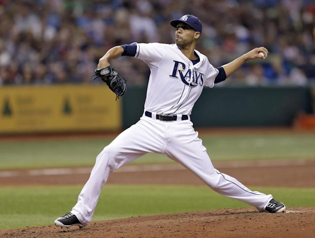 Tampa Bay Rays' David Price delivers to the Boston Red Sox during the fourth inning of a baseball game Tuesday, Sept. 10, 2013, in St. Petersburg, Fla. (AP Photo/Chris O'Meara)