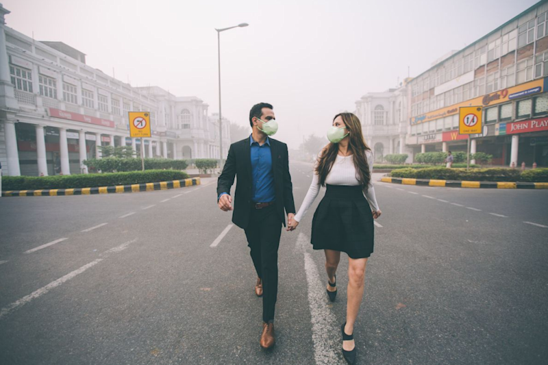 The photos are a stark contrast to normal loved-up engagement shoots. Photo: Banjara Studios