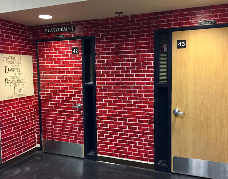 An Oregon teacher transformed his classroom into a Harry Potter-themed oasis.  (Courtesy of Kyle Hubler)