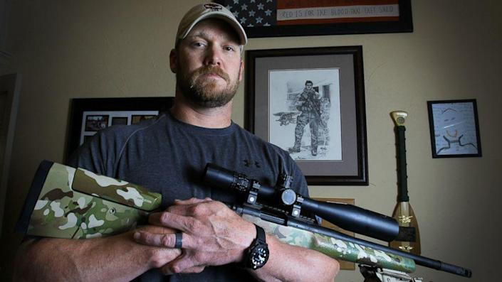 """New documents question claims that Chris Kyle, a former Navy SEAL and author of the book """"American Sniper,"""" made about his time at war. (File photo)"""