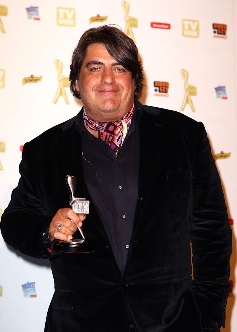 A photo of Masterchef judge Matt Preston posing with the Logie for most popular Reality program at the 52nd TV Week Logie Awards room at Crown Casino on May 2, 2010 in Melbourne, Australia.