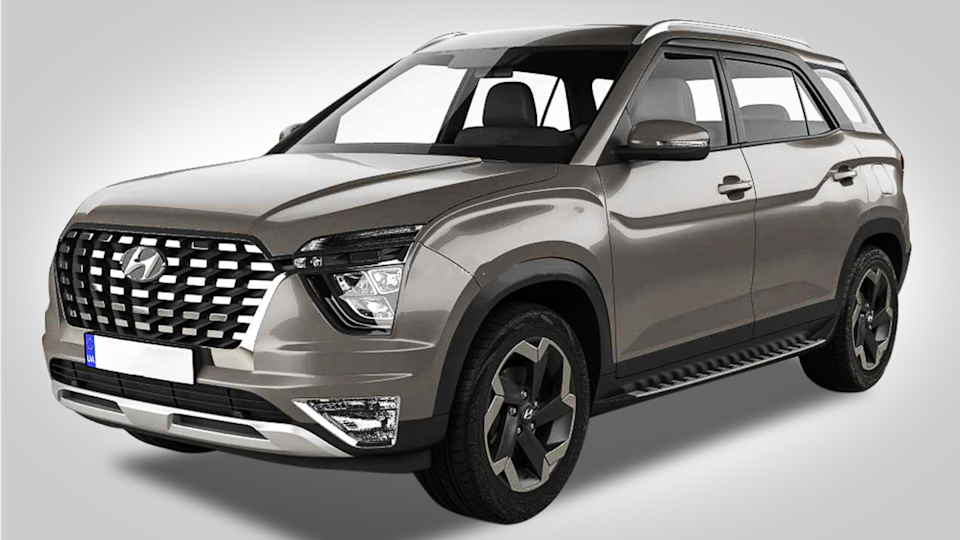 Hyundai ALCAZAR teased in camouflaged form; powertrain details also leaked