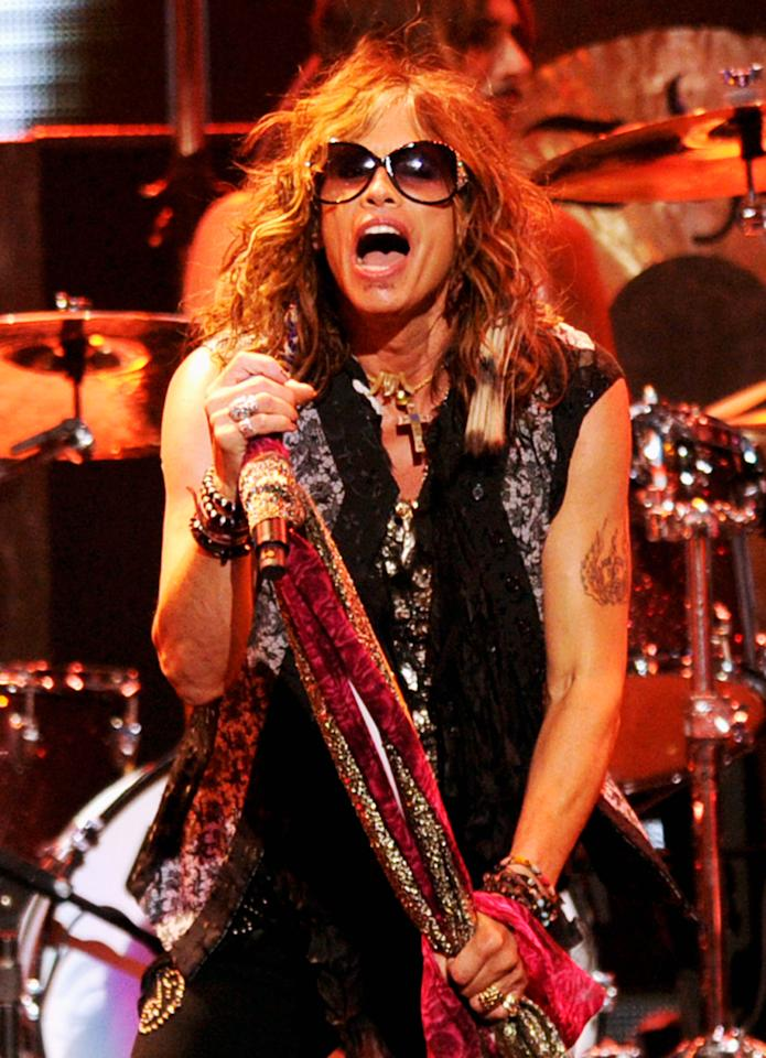 Steven Tyler of Aerosmith<br><br>Real name: Steven Victor Tallarico <br><br>(Photo by Ethan Miller/Getty Images for Clear Channel)