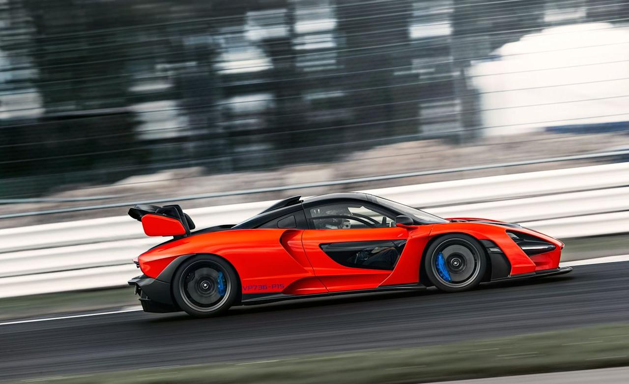 """<p>The <a href=""""https://www.caranddriver.com/mclaren/senna"""" target=""""_blank"""">McLaren Senna</a> is not a looker by any stretch. Form definitely follows function with this most focused track rat built in Woking, England. It does, however, carve up a track like you would a turkey on Thanksgiving, and it <a href=""""https://www.caranddriver.com/reviews/a25293693/2019-mclaren-senna-supercar-drive/"""" target=""""_blank"""">brakes from 70 mph to zero in 136 feet</a>,  thanks in part to a set of carbon-ceramic brakes that are similar to carbon-carbon brake units found on race cars.</p>"""