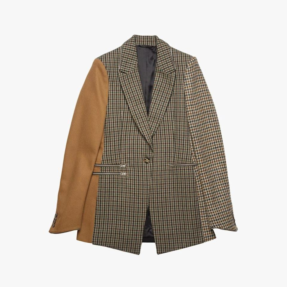 """Acne Studios just released <em>Repurposed,</em> a new series of drops made from excess materials and fabrics. This blazer from the first drop will be a go-to throughout the fall season. $750, ACNE STUDIOS. <a href=""""https://www.acnestudios.com/us/en/panel-suit-jacket/AH0126-AHB.html?categid=woman-new-arrivals"""" rel=""""nofollow noopener"""" target=""""_blank"""" data-ylk=""""slk:Get it now!"""" class=""""link rapid-noclick-resp"""">Get it now!</a>"""