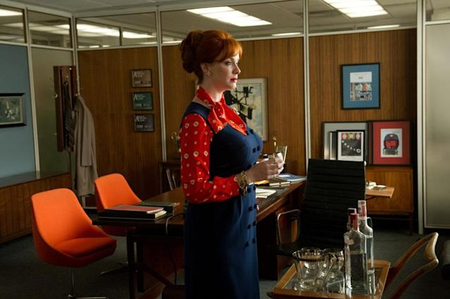 "Joan Harris (Christina Hendricks) in the ""Mad Men"" episode, ""The Collaborators."""