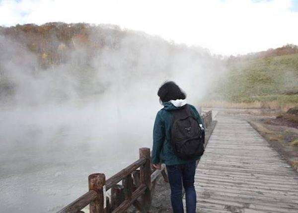 ▲ The smoky marsh. You can watch the powerful hot marsh closely.