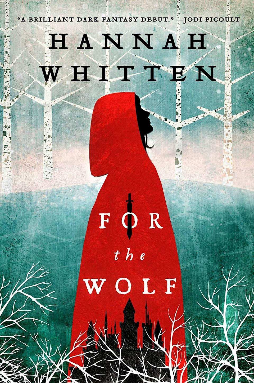 """While the title of this novel might feel a bit on the nose, trust us when we say this story goes far beyond the origins of <em>Little Red Riding Hood.</em> As the second-born daughter in her kingdom, Red has spent her entire life knowing she would be sacrificed to the wolf in the woods. While the firstborn daughter adopts the throne, the second must face a gruesome fate in order to bring back the spirit of an ancient god. Living with concealed powers that she can't control, Red believes that sacrificing herself is the right thing to do. But when she finds out the local wolf is in fact a human man, it's up to her to learn how to use her magic and take control of her own life.<br><br><strong>Hannah Whitten</strong> For the Wolf, $, available at <a href=""""https://uk.bookshop.org/books/for-the-wolf/9780356516363"""" rel=""""nofollow noopener"""" target=""""_blank"""" data-ylk=""""slk:bookshop.org"""" class=""""link rapid-noclick-resp"""">bookshop.org</a>"""