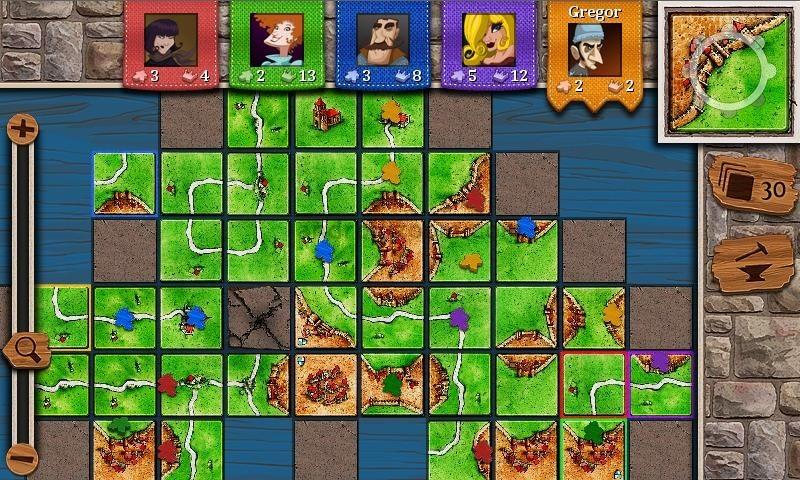 Carcassonne for mobile games