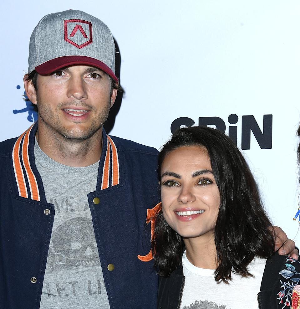 Mila Kunis, 37, and Ashton Kutcher, 42, say they embraced the opportunity to film a Cheetos commercial for the upcoming Super Bowl because it gave them some time for themselves.  (Photo: Steve Granitz/WireImage)