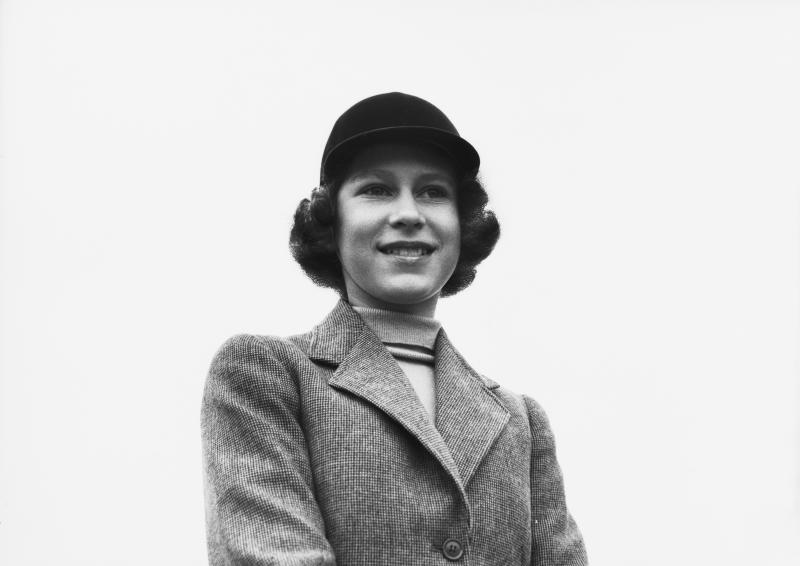 Princess Elizabeth in a riding habit and riding hat, Royal Lodge, Windsor, UK, April 1940. (Photo by Lisa Sheridan/Hulton Archive/Getty Images)