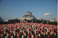 """<p>The 250-acre National Historic Landmark in the Bronx hosts more than a million visitors annually. One of its top draws right now?<a href=""""https://www.townandcountrymag.com/leisure/arts-and-culture/a36075095/yayoi-kusama-landmark-exhibition-opens-new-york-botanical-garden/"""" rel=""""nofollow noopener"""" target=""""_blank"""" data-ylk=""""slk:Yayoi Kusama's Cosmic Nature exhibition"""" class=""""link rapid-noclick-resp""""> Yayoi Kusama's <em>Cosmic Nature </em>exhibition</a>, which runs through October 31.</p>"""