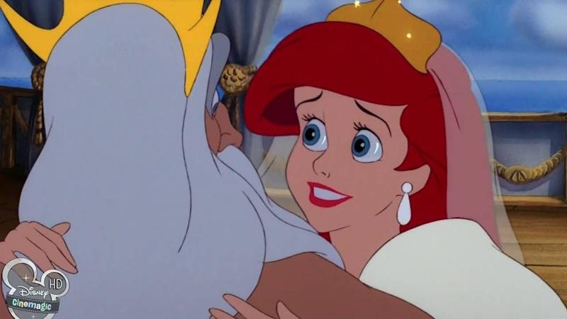 "A screenshot from Disney's ""The Little Mermaid."""