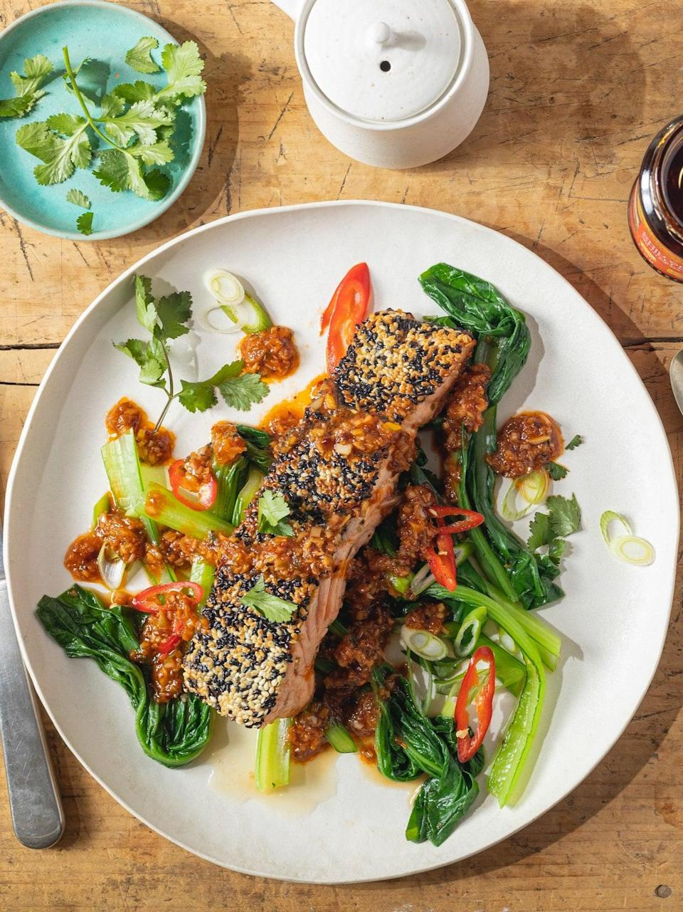 You can substitute the salmon for trout (Lee Kum Kee - Jeremy Pang)