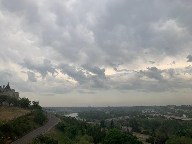 Environment Canada is replacing a weather radar west of Edmonton with a new system that will allow for better forecasting of rain, snow, sleet and other precipitation. (Emily Pasiuk/CBC - image credit)