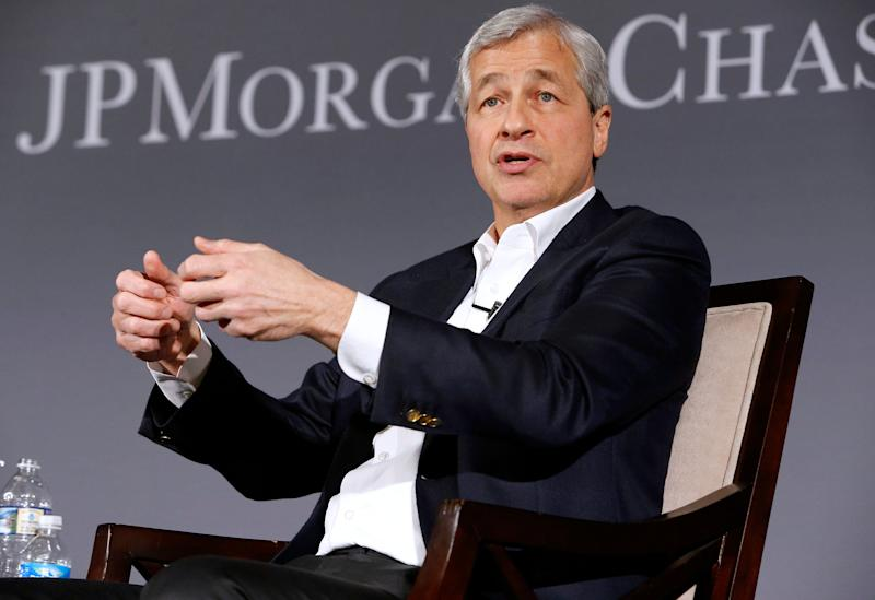 IMAGE DISTRIBUTED FOR JPMORGAN CHASE - Jamie Dimon, Chairman and CEO of JPMorgan Chase, discusses his Annual Letter to Shareholders on Tuesday, April 4, 2017 at the Chamber of Commerce of the United States of America in Washington, DC. (Paul Morigi/AP Images for JPMorgan Chase)