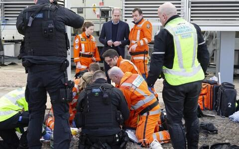 The Duke of Cambridge visited a training session of the London Air Ambulance in January