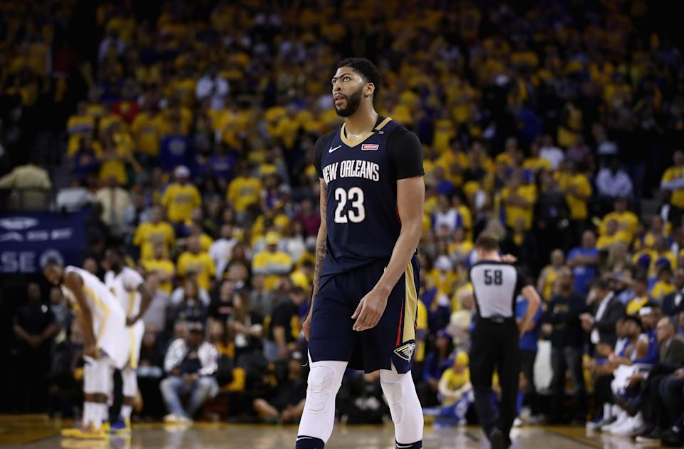 Anthony Davis has a new agent who also just so happens to represent LeBron James. (Getty Images)