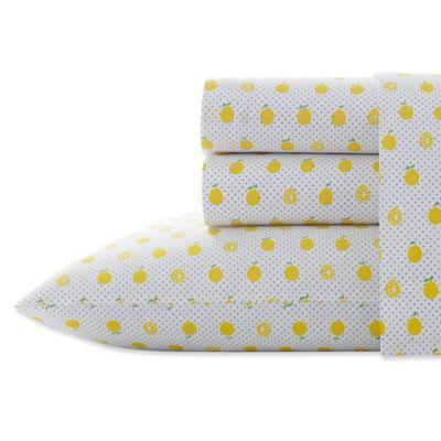 """<br> <br> <strong>Poppy & Fritz</strong> Lemons 200-Thread-Count Sheet Set, $, available at <a href=""""https://go.skimresources.com/?id=30283X879131&url=https%3A%2F%2Fwww.bedbathandbeyond.com%2Fstore%2Fproduct%2Fpoppy-amp-fritz-reg-lemons-200-thread-count-sheet-set-in-yellow%2F5150243"""" rel=""""nofollow noopener"""" target=""""_blank"""" data-ylk=""""slk:Bed Bath and Beyond"""" class=""""link rapid-noclick-resp"""">Bed Bath and Beyond</a>"""