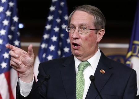 House Judiciary Committee Chairman Bob Goodlatte speaks at a news conference on the anticipated House passage of the USA Freedom Act on Capitol Hill in Washington