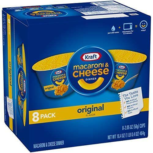 """<p><strong>Kraft</strong></p><p>amazon.com</p><p><strong>$14.71</strong></p><p><a href=""""https://www.amazon.com/dp/B00WI0T4HU?tag=syn-yahoo-20&ascsubtag=%5Bartid%7C10049.g.32793292%5Bsrc%7Cyahoo-us"""" rel=""""nofollow noopener"""" target=""""_blank"""" data-ylk=""""slk:Shop Now"""" class=""""link rapid-noclick-resp"""">Shop Now</a></p><p>A cup of mac and cheese just hits differently when you're spooning it up in bed after a long day of class. Ask your mom to mail you some more supplies, cuz this 8-pack won't last long. </p>"""