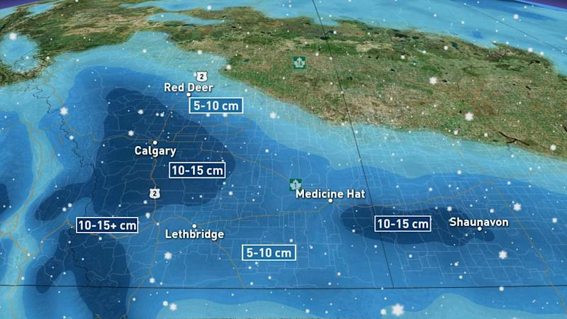 Warnings issued as heavy snow makes a bold return to the Prairies