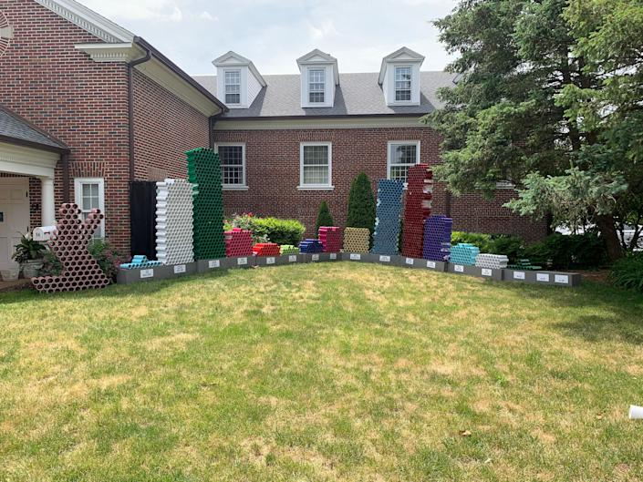 The Garden Remembrance Memorial at the Presbyterian Church of Dover honors those in Delaware who lost their lives to COVID-19.