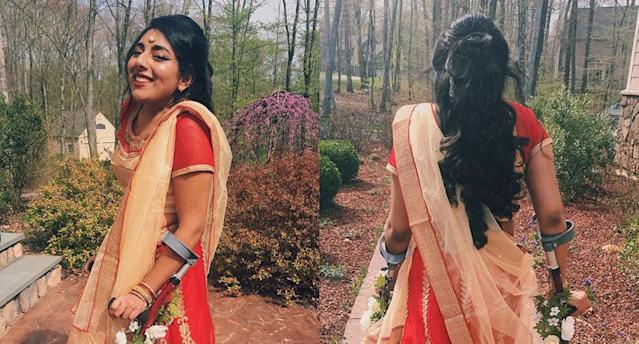 Shruti Rajkumar on her way to prom. (Photo: shruti_rajkumar via Twitter)