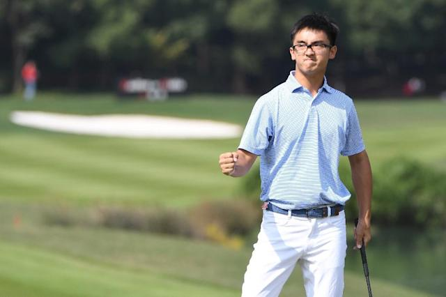 China's 'Marty' Dou Zecheng had a tough debut season on the US PGA Tour. (AFP Photo/GOH CHAI HIN)