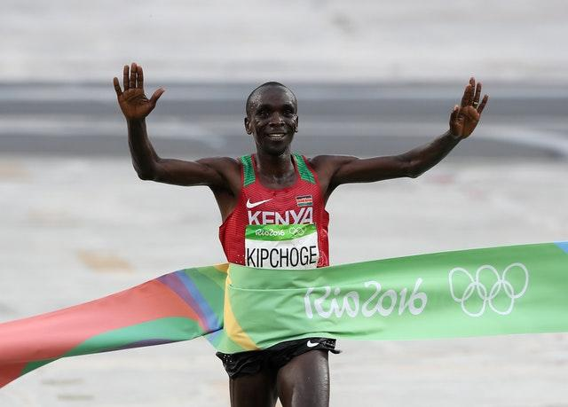 Kipchoge is the current Olympic champion after winning the marathon in Rio de Janeiro in 2016 (Martin Rickett/PA)