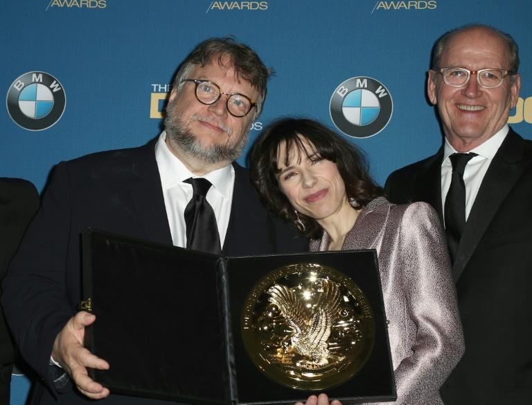'The Shape of Water' director Guillermo del Toro (l) and actors Sally Hawkins and Richard Jenkins will be hoping the film scoops more awards at the Baftas, following success at this month's Directors Guild Of America Awards
