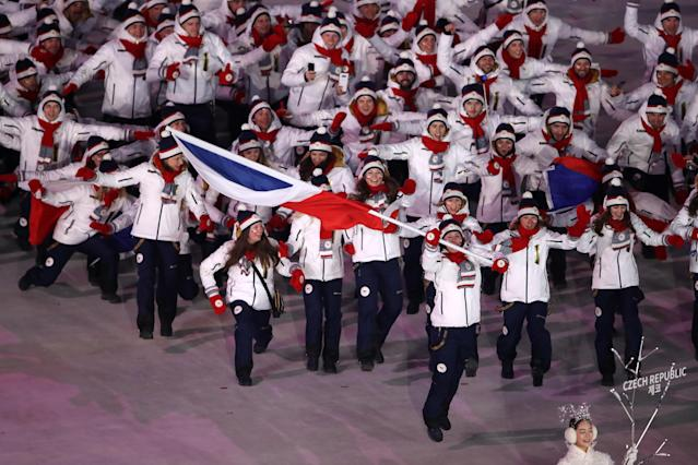 The Czech Republic team's choreography wasn't the greatest. (Getty)