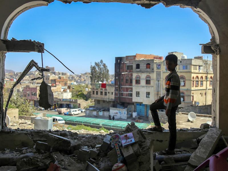 The conflict in Yemen has devastated the country's infrastructure and forced three million people to flee their homes: Getty