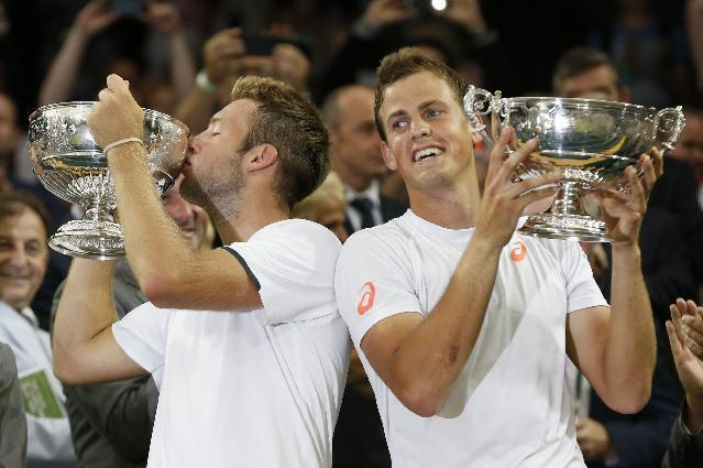 Who said there were no Americans in the finals? Jack Sock wins Wimbledon doubles