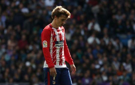 Soccer Football - La Liga Santander - Real Madrid vs Atletico Madrid - Santiago Bernabeu, Madrid, Spain - April 8, 2018 Atletico Madrid's Antoine Griezmann reacts REUTERS/Susana Vera/File Photo