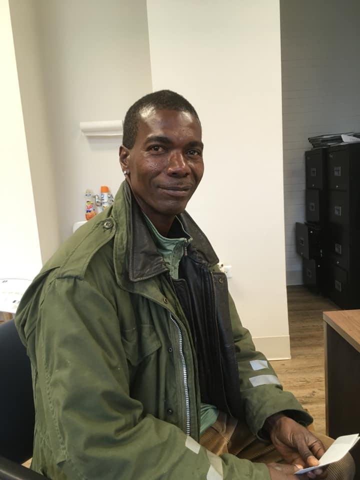 Formerly homeless, Roy has just paid his first month's rent, all through working for a pilot program which assists homeless people in Little Rock. Source: Facebook - Canvas Community.