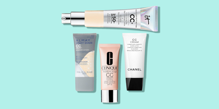 """<p>If you're looking to cut a few steps (or products) from your morning routine, meet your new favorite multitasker: a CC cream. CC creams (""""CC"""" stands for """"color-correcting"""") pack <a href=""""https://www.goodhousekeeping.com/beauty-products/reviews/g2487/best-sunscreen-for-face-reviews/"""" rel=""""nofollow noopener"""" target=""""_blank"""" data-ylk=""""slk:sun protection"""" class=""""link rapid-noclick-resp"""">sun protection</a>, hydration, and <a href=""""https://www.goodhousekeeping.com/beauty-products/g723/anti-aging-skin-awards/"""" rel=""""nofollow noopener"""" target=""""_blank"""" data-ylk=""""slk:anti-aging"""" class=""""link rapid-noclick-resp"""">anti-aging</a> benefits into one formula, while also evening your skin tone for a natural-looking finish. Like <a href=""""https://www.goodhousekeeping.com/beauty-products/g29811287/best-bb-cream/"""" rel=""""nofollow noopener"""" target=""""_blank"""" data-ylk=""""slk:BB creams"""" class=""""link rapid-noclick-resp"""">BB creams</a> or <a href=""""https://www.goodhousekeeping.com/beauty-products/g26912680/best-tinted-moisturizers/"""" rel=""""nofollow noopener"""" target=""""_blank"""" data-ylk=""""slk:tinted moisturizers"""" class=""""link rapid-noclick-resp"""">tinted moisturizers</a>, <a href=""""https://www.goodhousekeeping.com/beauty-products/g19502656/best-drugstore-cc-creams/"""" rel=""""nofollow noopener"""" target=""""_blank"""" data-ylk=""""slk:CC creams"""" class=""""link rapid-noclick-resp"""">CC creams</a> are great alternatives to traditional <a href=""""https://www.goodhousekeeping.com/beauty-products/g29893083/best-drugstore-foundations-for-dry-skin/"""" rel=""""nofollow noopener"""" target=""""_blank"""" data-ylk=""""slk:foundations"""" class=""""link rapid-noclick-resp"""">foundations</a>. </p><p>The <a href=""""https://www.goodhousekeeping.com/institute/about-the-institute/a19748212/good-housekeeping-institute-product-reviews/"""" rel=""""nofollow noopener"""" target=""""_blank"""" data-ylk=""""slk:Good Housekeeping Institute"""" class=""""link rapid-noclick-resp"""">Good Housekeeping Institute</a> Beauty Lab experts and editors have the top picks that will leave you looking bright and fresh — e"""
