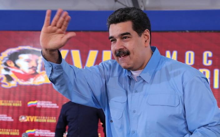 Mr Maduro survived an attempted coup after he was reportedly refused exile to Russia - AFP