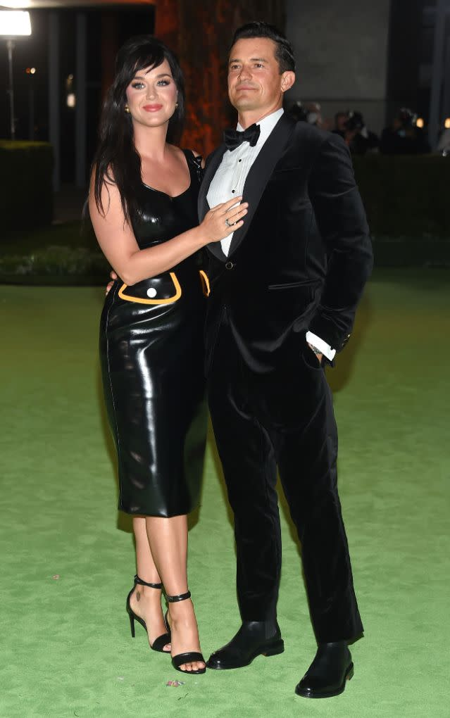 Katy Perry and Orlando Bloom at the Academy Museum of Motion Pictures opening Gala honoring Haile Gerima and Sophia Loren on Sept. 25, 2021, in Los Angeles. - Credit: MEGA