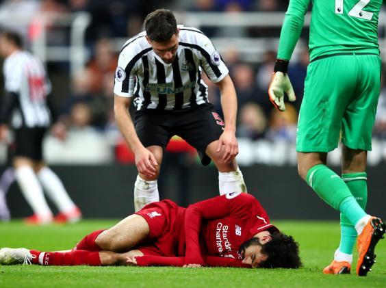 Salah was injured during the Newcastle win (Getty)