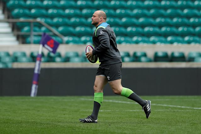 Rugby Union - Ireland Captain's Run - Twickenham Stadium, London, Britain - March 16, 2018 Ireland's Rory Best during the captains run Action Images via Reuters/Andrew Couldridge