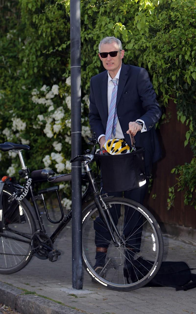 Jeremy Vine arriving at Isleworth Crown Court in west London where Shanique Syrena Pearson, who was found guilty of threatening and abusing the BBC presenter as he was cycling, is to appeal against her conviction - Credit: PA